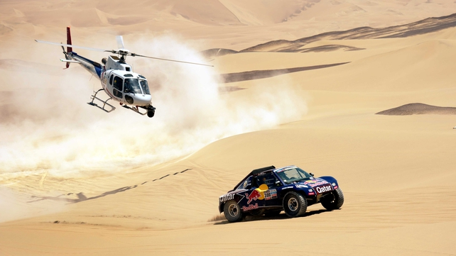 Al-Attiyah triumphed in today's 289km fourth stage from Nazca to Arequipa