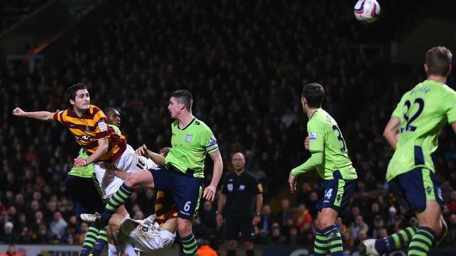 Donegal-born Carl McHugh scored Bradford's third goal