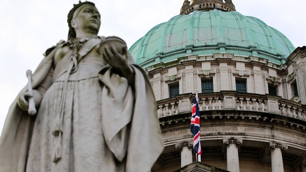 The Union flag was raised over Belfast City Hall this morning