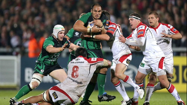 George Naoupu in action against Ulster in October