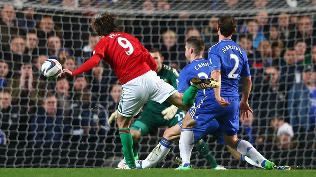 Michu scores against Chelsea