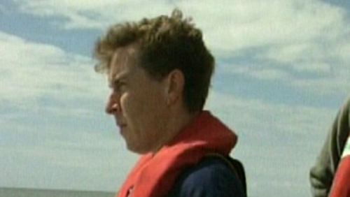 Johnny Flynn was fishing with his lifelong friend off Brownstown Head