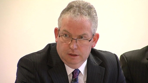 The HSE's Tony O'Brien says €61m was outstanding in private health payments at the end of December