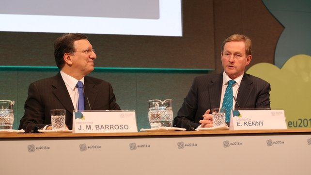 Enda Kenny was speaking at a news conference with José Manuel Barroso