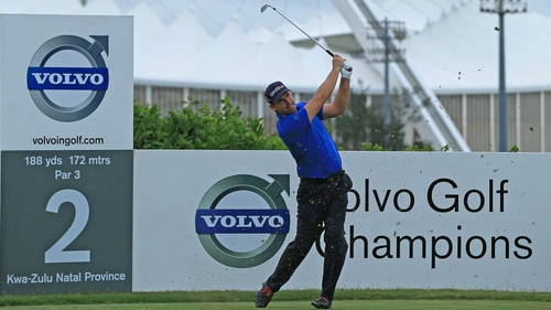 Padraig Harrington is lurking with intent at the Volvo Golf Champions