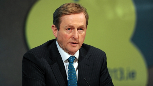 Enda Kenny said Frankfurt and Brussels compounded Ireland's debt errors