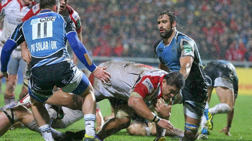 Nick Williams put Ulster on the way to a three-try victory