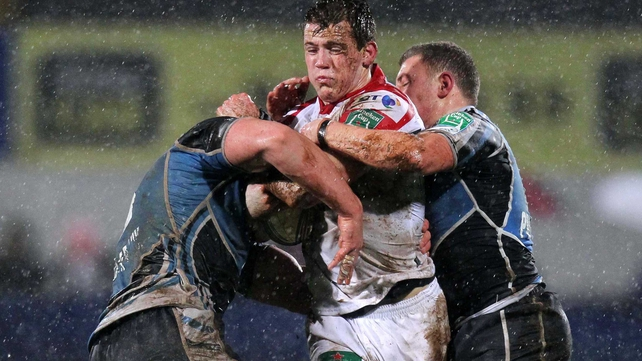 Conditions were very difficult at a rain-sodden Ravenhill