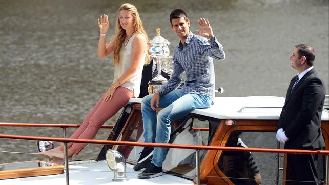 Defending champions: Victoria Azarenka and Novak Djokovic