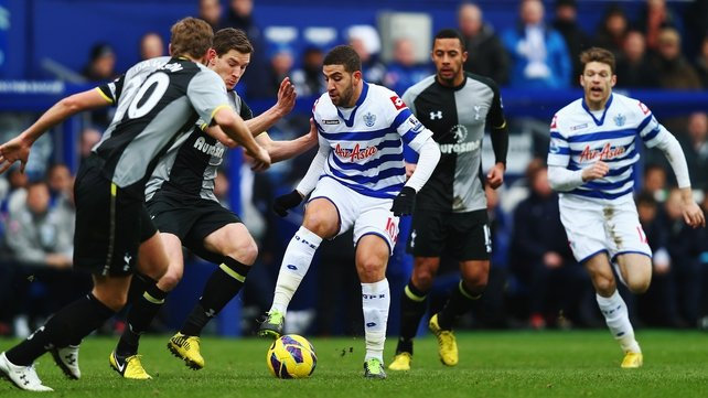 Adel Taarabt showed glimpses of his fantastic ability at Loftus Road this afternoon but Spurs kept a close eye on their former team-mate