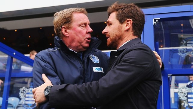 Harry Redknapp and Andre Villas-Boas shared an embrace and the points at Loftus Road