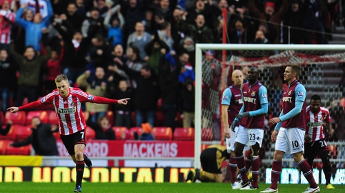 Sebastian Larsson's goal set the Black Cats on their way