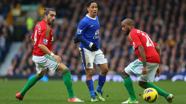 Everton enjoyed the lion's share of possession at Goodison but Swansea could have snatched the points when Michu's effort was touched onto the bar