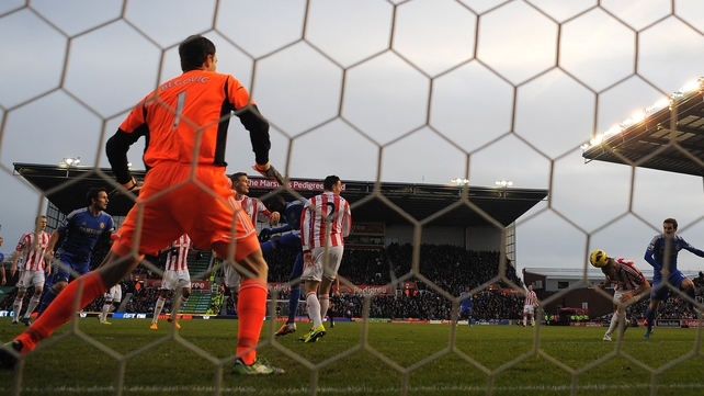 Horror day for Jonathan Walters (second from right) as he puts through his own net for the second time