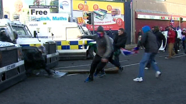 29 PSNI officers were injured during riots