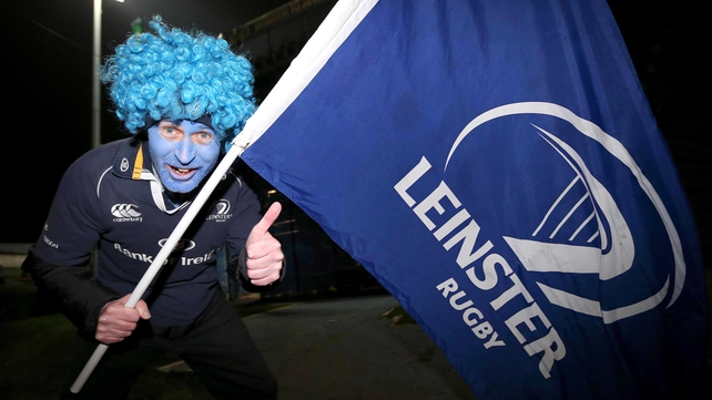 Leinster fan Eoin O'Driscoll prior to the game at the RDS