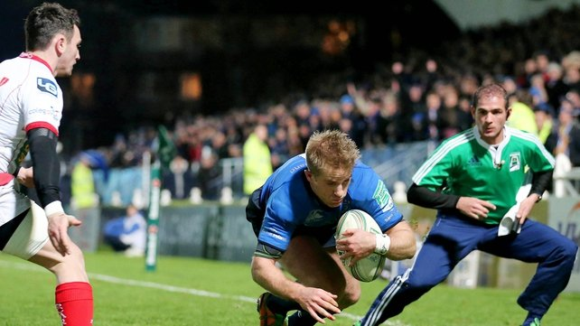 Man-of-the-match Luke Fitzgerald was among the Leinster try scorers