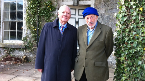 JP Donleavy pictured with Gay Byrne at the time of his The Meaning of Life interview for RTÉ One.