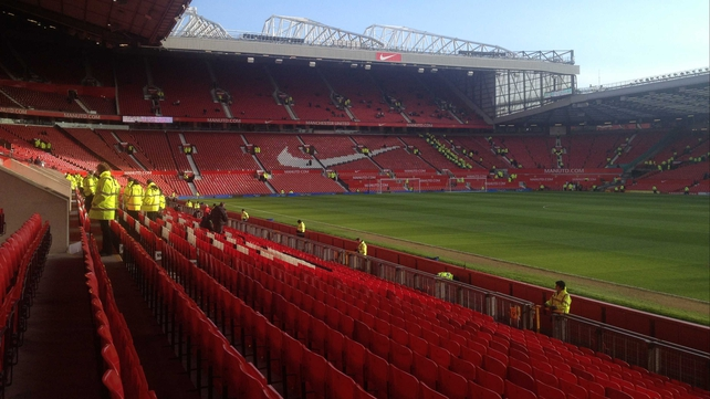 Old Trafford, before it all kicks off