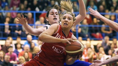 DCU Mercy's Christina Newton and Tomica Bacic of Cork