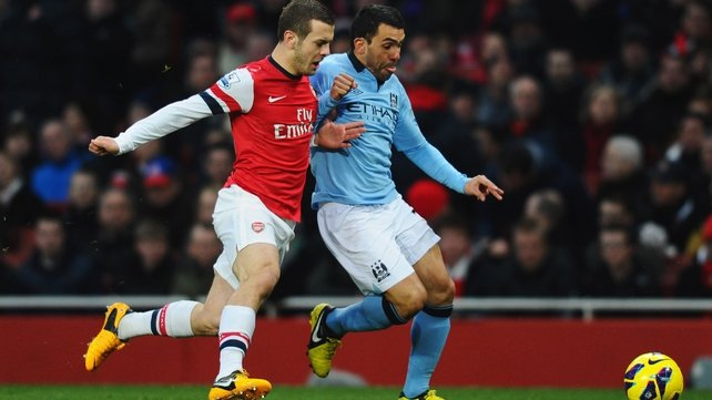 Arsenal were well-beaten by Man City at The Emirates