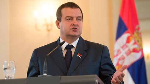"Ivica Dacic said Serbia could not afford to ""keep its head in the sand"""
