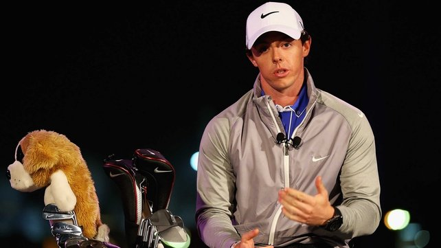 McIlroy pictured at the unveiling