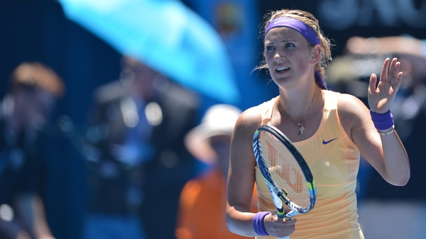Victoria Azarenka went 3-0 down in the second set but fought back to take it 6-4