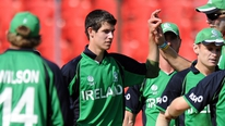 Ireland's George Dockrell gives his reaction following the 48 run win against Uganda.