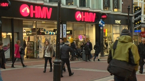 It is understood that HMV's Irish employees have been put on temporary lay-off