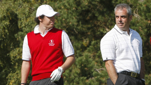 Rory McIlroy was very vocal in his support for Paul McGinley