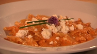 Farfalle with red pepper sauce and feta - Catherine cooks up a wonderful family main, which is also great as a romantic dinner for two