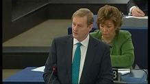 Enda Kenny addresses European Parliament