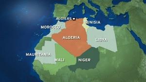 The hospital is 500km southeast of the capital Algiers