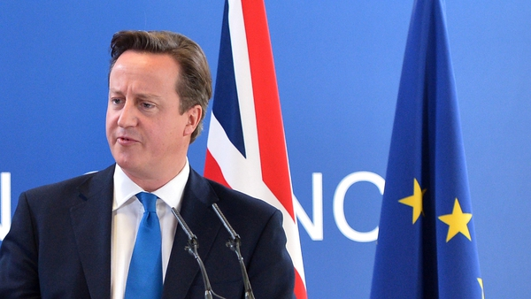 David Cameron said it was time to renegotiate Britain's role in the EU