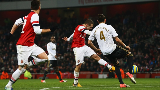 Jack Wilshere struck in the closing minutes to give Arsenal victory