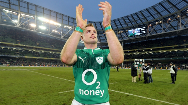 Heaslip skippered the national side to victory against Argentina in the Guinness November Series