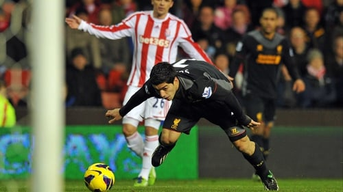 Luis Suarez admits he dived against Stoke earlier this season