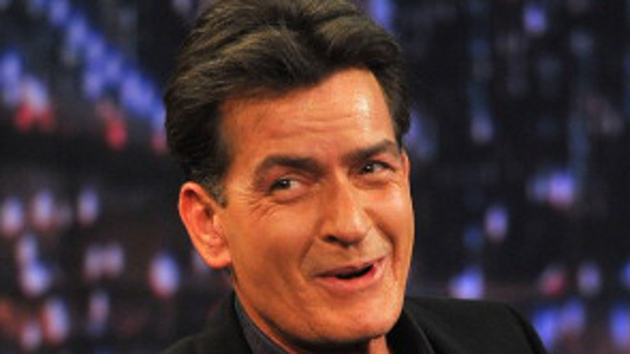 Charlie Sheen appears to be on the hunt for the Loch Ness monster