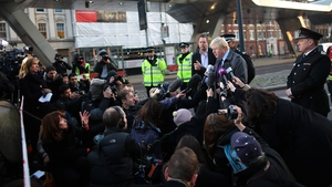 London Mayor Boris Johnson speaks to reporters after a helicopter crashed into a crane in the city, killing the pilot and a person on the ground