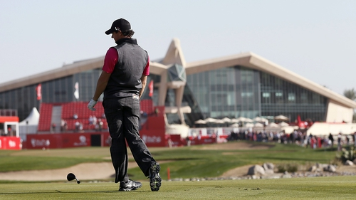 Rory McIlroy has a fight on his hands to make the cut at the Abu Dhabi HSBC Championship