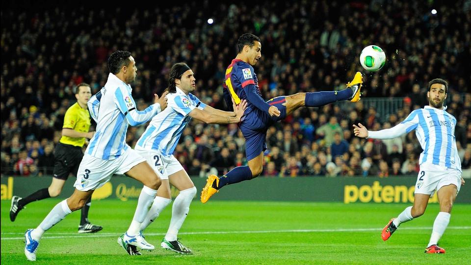 Thiago Alcantara of Barcelona during the Copa del Rey quarter-final against Malaga