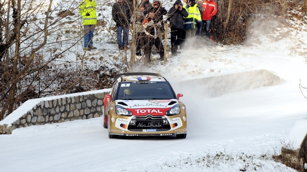 Sebastian Loeb continues to lead the Monte Carlo Rally