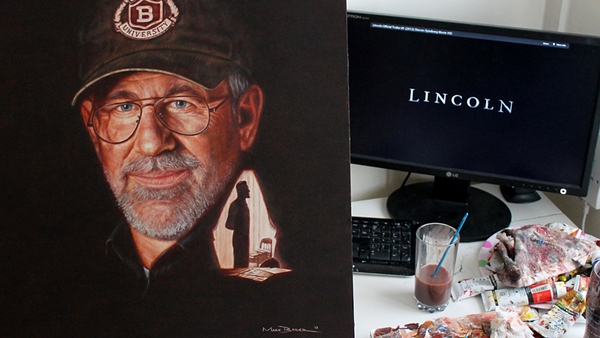 Mark Baker's portrait of Steven Spielberg