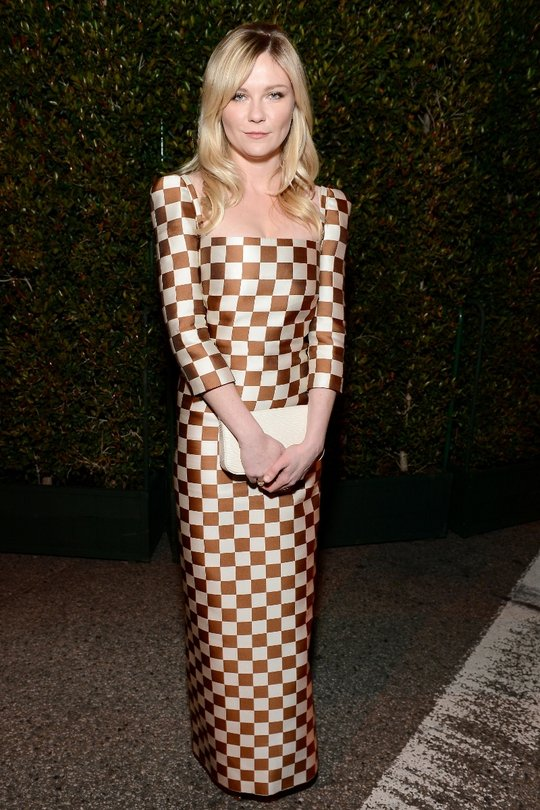 As much as we really want to hate Kirsten Dunst's we actually think the shape and colour suit her perfectly. It's a bit of a jarring, polarising look, but we strangely like it!