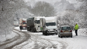 Heavy snow is blamed for some of the decrease in British retail sales