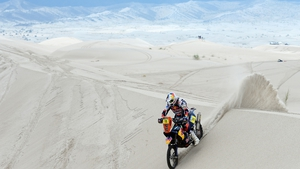 Ruben Faria of KTM Red Bull Factory Team competes in stage 11 from La Rioja to Fiambala during the 2013 Dakar Rally in Argentina