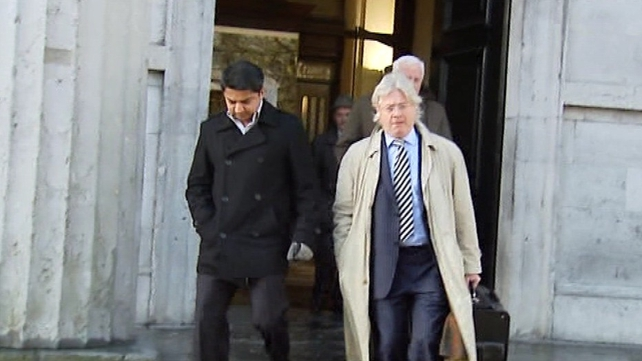 Gerard O'Donnell (R) said his client Praveen Halappanavar (L) is unhappy with 108-page review