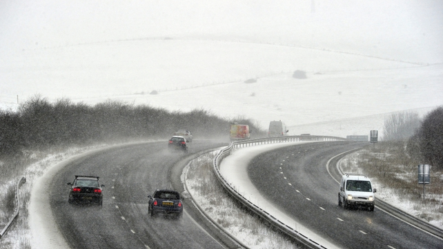 Motorists face difficult conditions on the roads in England