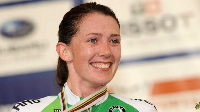 Caroline Ryan is in action at the Track Cycling World Cup in Mexico
